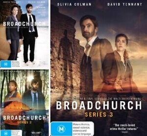 BROADCHURCH DVD Series: Complete Season 1 2 3 - Region 4 Australia