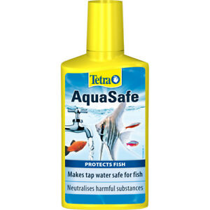 Tetra AquaSafe Tap Water Conditioner Dechlorinator Aqua Safe Chlorine Fish 50ml