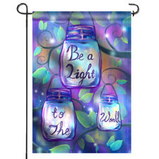 ANLEY Be a Light To the World Garden Flag Double Sided&Stitched Decors 12.5 x 18