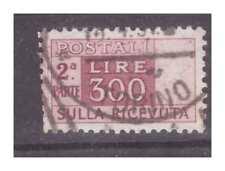 PACCHI POSTALI 300 LIRE  RUOTA -  meta' usata  ricevuta