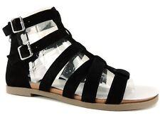a7adfb650aba Steve Madden Womens Diver Black Gladiator Sandals Shoes 8 Medium (b M) BHFO  7002