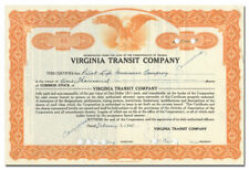 Virginia Transit Company Stock Certificate (Richmond)