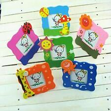 2×Baby Child Cute Cartoon Wooden Photo Frame Room Nursery Decor Picture Frame