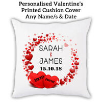 PERSONALISED Name Valentines Gift Pillow Sofa Cushion cover Custom Print 0001