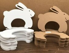 Assorted Foam Bunny Rabbit Cutouts Brown and White 23 Count