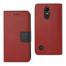LG K20 V/K20 Plus Case Wallet Protective Stand Cover w/ Card Holder Red