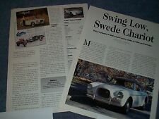 """1957 Volvo P1900 History Info Article """"Swing Low, Swede Chariot"""""""