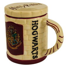 NEW OFFICIAL Harry Potter Hogwarts Crest Logo 3D Coffee Tea Mug with Coaster
