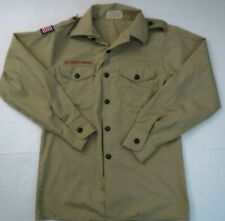 Boy scouts Of America Uniform Shirt Sz 14-16 Yo 00006000 uth L Long Sleeve Beige Usa Made