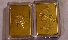 German Red Baron Fighter Blue Max Imperial War Royal Gold Coin Bar Case Prussia