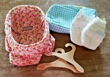 Penelope Peapod Basket Bassinet For Dolls + Assorted Accessories For Dolls