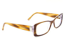 Versace Women's Eyeglasses Brown on Clear Rectangular Frame Italy 51[]16 135