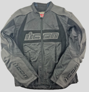 ICON ARC PERFORMANCE SERIES MOTORCYCLE JACKET (2X LARGE) BLACK FULL ZIP