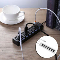 7 Ports Hub USB 2.0 Adapter Splitter Socket With Switch 5Gbps FOR Windows XP/