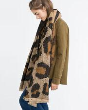 Lady Women Large Brown Leopard Print Pashmina Scarf Wrap Shawl Neck Stole Warm
