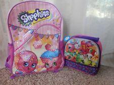 """New shopkins bookbag 16""""x 12"""" x 4"""" Backpack lunch Bag"""