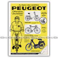 PUB PEUGEOT 102 MR & MT, Week-end & Sport Moped Ad / Publicité Cyclo de 1970 #1