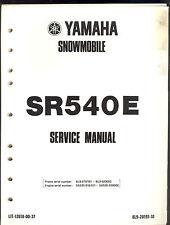 1980 YAMAHA SR540E SNOWMOBILE SERVICE MANUAL / SR 540 E