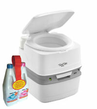 Thetford Porta Potti Qube 365 White with Piston Pump + Aquakem Duo Pack