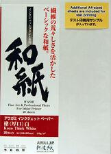 awagami Kozo SPESSORE BIANCO WASHI carta inkjet, A4 20 fogli