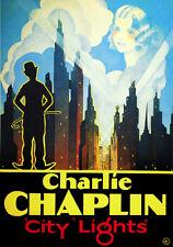 5921.Charlie Chaplin City Lights Poster.Home Interior design.Decoration Art