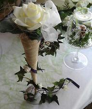 Belle Décoration de table Vases de sisal, Roses, Mariée, Mariage, Fetes, neuf