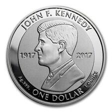 1 oncia 999 Argento Moneta d'argento John (F). Kennedy 2017 Reverse Prova 1$