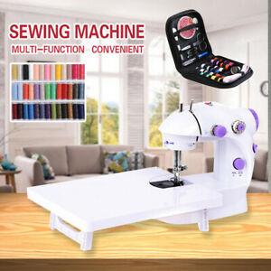 Portable Electric Sewing Machine Desktop Household Tailor LED 2 Speed Foot Pedal