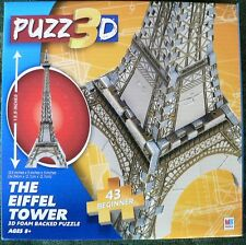 PUZZ 3D FOAM BACKED MINI MILTON BRADLEY EIFFEL TOWER PUZZLE NEW SEALED 43 PCS