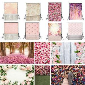 Romantic Flower Wedding Photography Background Vinyl Photo Screen Backdrop Gift