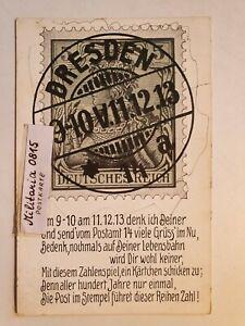 AK Ansichtskarte 1913 Dresden Gruss am Postamt 14