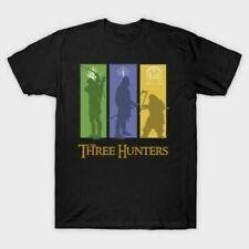 LOTR Aragon Gimli Legolas The Three Hunters Mordor Movie Black T-Shirt S-6XL
