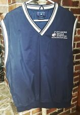 Port Authority Mens Golf Vest Activewear Vest size L Navy Blue V-Neck Logo
