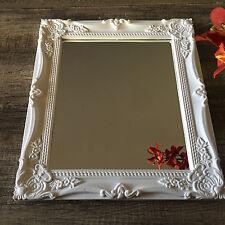 Shabby Chic Ornate Bathroom Wall Mirror Black White Grey Frame