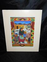 Diana Bryer Baking Biscochitos Art Print New Mexico NM Signed Woman Children