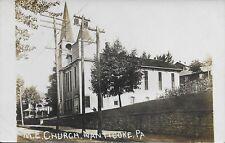 M. E. Church, Nanticoke PA real photo RPPC handsome vintage postcard unused