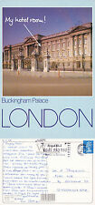 1980's TOWER BRIDGE & THE RIVER THAMES LONDON OVERSIZED COLOUR POSTCARD