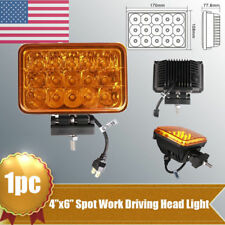 "1X 45W 4""x6"" LED Headlight Spot High Low Beam Driving Headlamp Truck + Bracket"