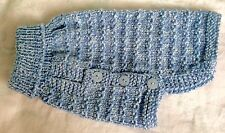 Hand Knitted Dog Coat Knitted In Rico Baby Yarn - Small - 26cm Long, Girth 32cm