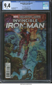 Invincible Iron Man #1 2015 CGC 9.4 - Bendis, Marvel Collector Corps Editition