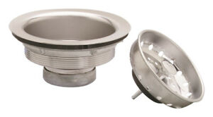 Plumb Pak  3-1/2 in. Natural Stainless Steel Basket Strainer Assembly