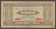 Poland 50000 Marek 1922; VF; P-33; M-33; Inflation issue