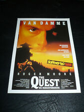 THE QUEST, film card (Jean-Claude van Damme, Roger Moore)