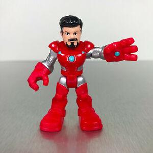 Playskool Marvel Super Hero Adventures TONY STARK red & silver Hulkbuster armor