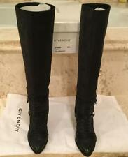 Givenchy Black Lace Knee High Boots Size 38.5 Worn Once!