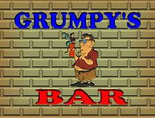 GRUMPY'S BAR  TIN SIGN