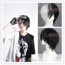 FREE SHIPPING Dangan Ronpa monokuma 30cm short Black&white cosplay HAIR wig+