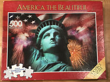 America The Beauitful Jigsaw Puzzle 500 Piece Statue of Liberty Used *FREE SHIP*
