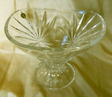Royal Crystal Rock Footed Bowl with Fan Decoration from Italy
