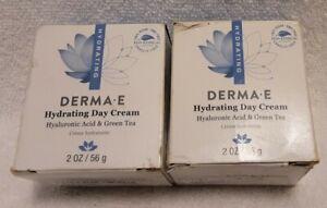 2 ~ Derma E Hydrating Day Cream Hyaluronic Acid & Green Tea Anti-aging Vegan 2oz